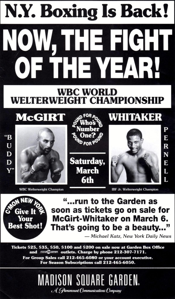 McGirt vs. Whitaker I Fight Poster