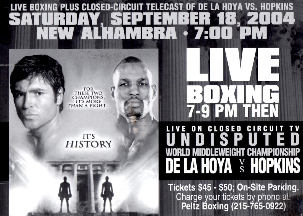 De La Hoya vs. Hopkins Fight Poster