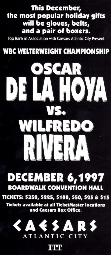 De La Hoya vs. Rivera Fight Program