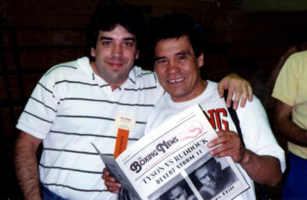 USA Boxing News head Writer Sal Alaimo with Former Bantamweight and Featherweight Champion Ruben Olivares