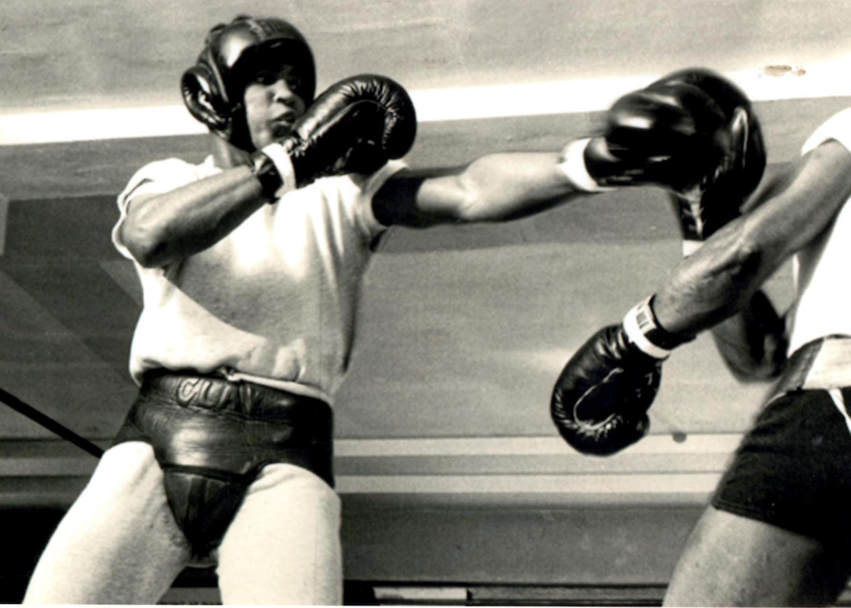 Muhammad Ali (then known as Cassius Clay) training in Miami Beach Gym