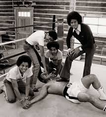Muhammad Ali with Michael Jackson and the Jackson 5