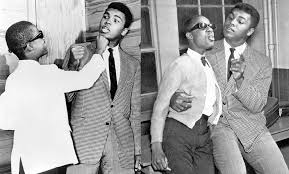Muhammad Ali with singer Stevie Wonder