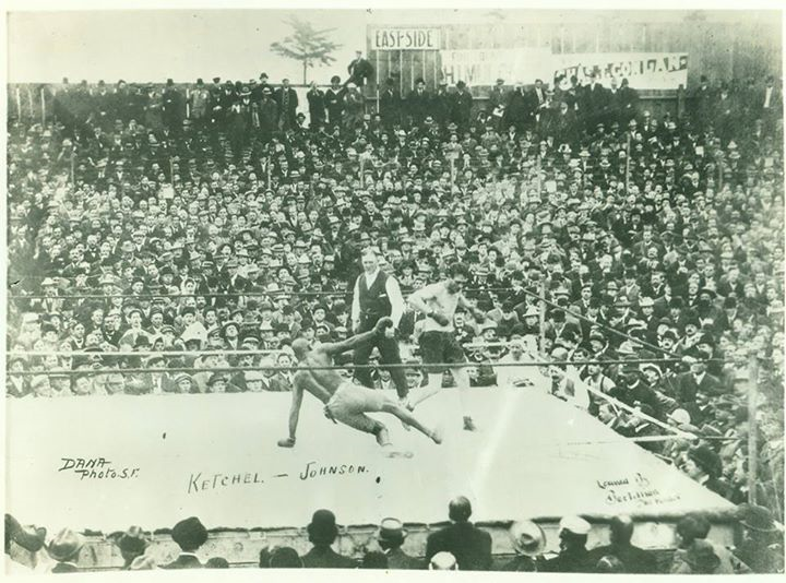 Fight Act3Fight Action Johnson-Ketchel 1909