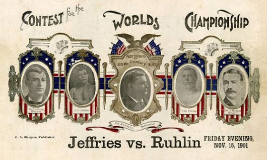 Fight Action #7Fight Action Jeffries-Ruhlin 1901
