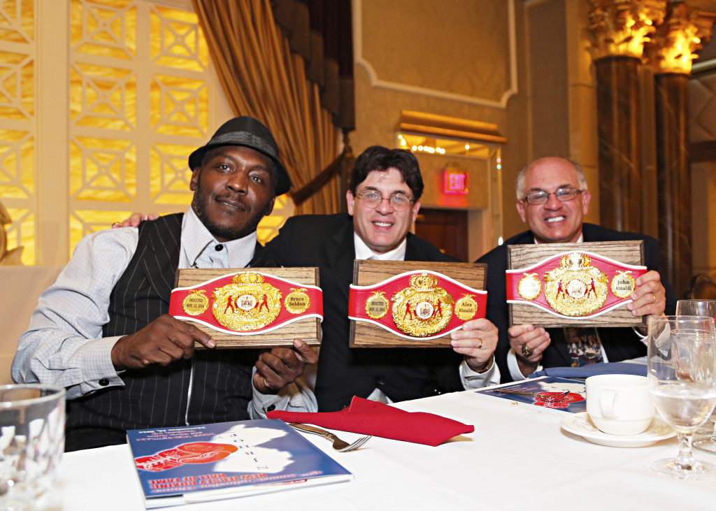 "The Boxing Twins with former Heavyweight Champion Bruce ""The Atlantic City Express"" Seldon"