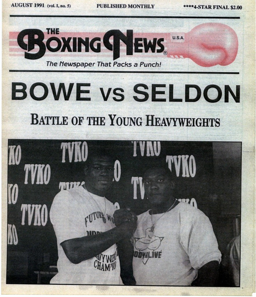 LLLLLLLLBoxing News August 1991 Cover