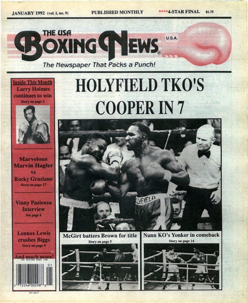 LLLLLLLLBoxing News January 1992 Cover