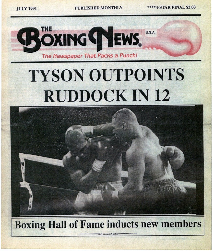 LLLLLLLLBoxing News July 1991 Cover
