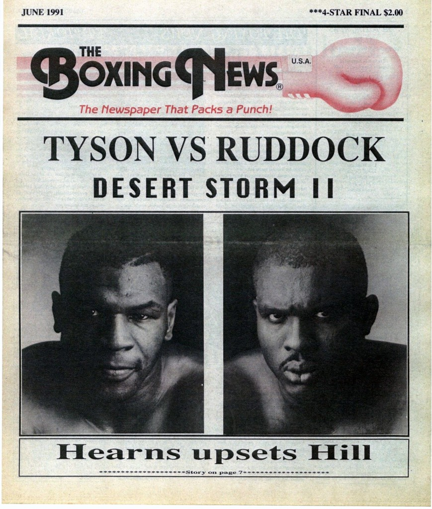 LLLLLLLLBoxing News June 1991 Cover