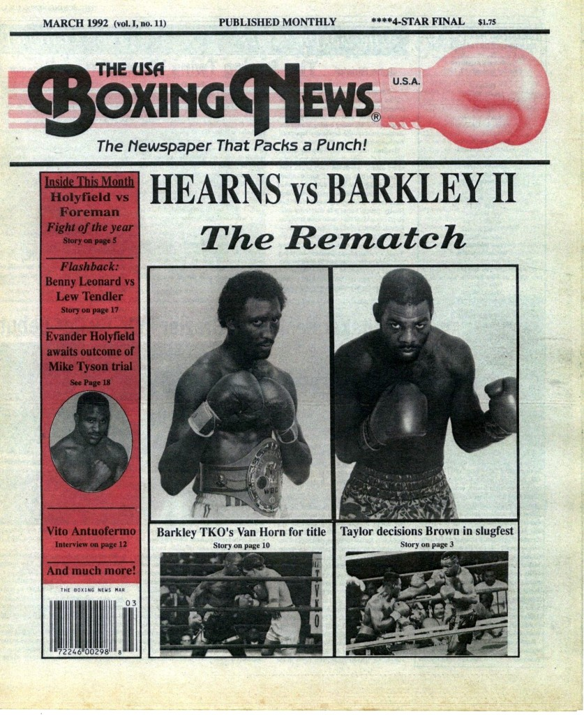 LLLLLLLLBoxing News March 1992 Cover