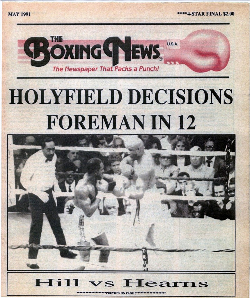 LLLLLLLLBoxing News May 1991 Cover
