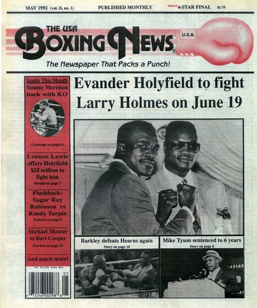 LLLLLLLLBoxing News May 1992 Cover
