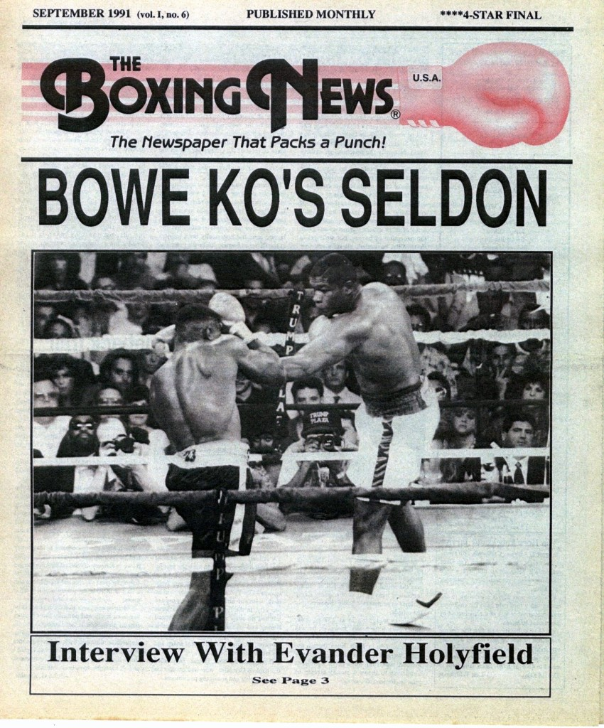 LLLLLLLLBoxing News September 1991 Cover
