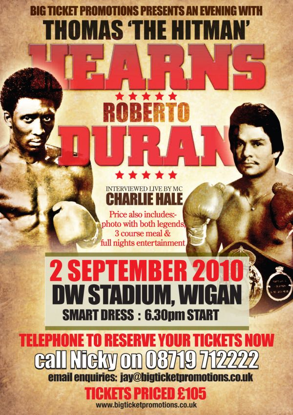 Hearns vs. Duran Fight Program