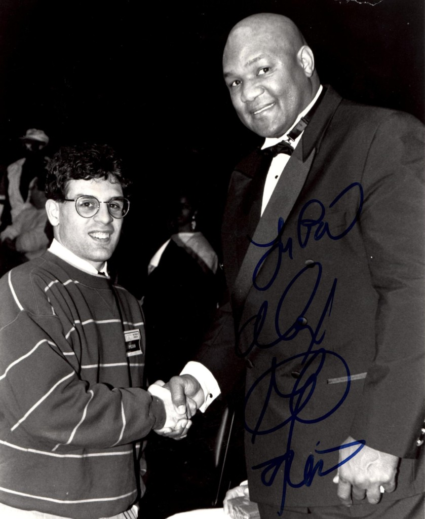 Alex Rinaldi with George Foreman