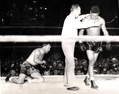 Joe Louis vs. Jack Sharkey in 1936