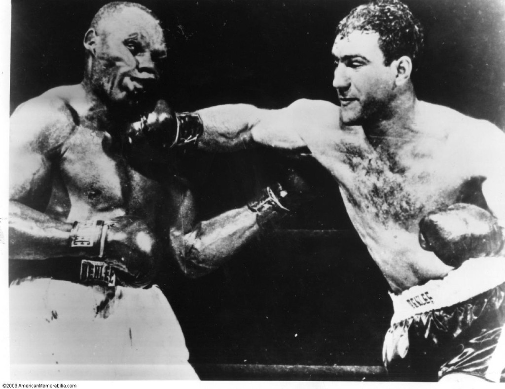Rocky Marciano vs. Jersey Joe Walcott I in 1952 (CLICK PHOTO TO VIEW FIGHT ACTION)