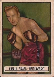 Charlie Fusari boxing trading card