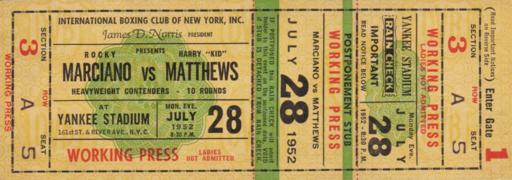WWWWWWWWWWMarciano-Matthews Ticket