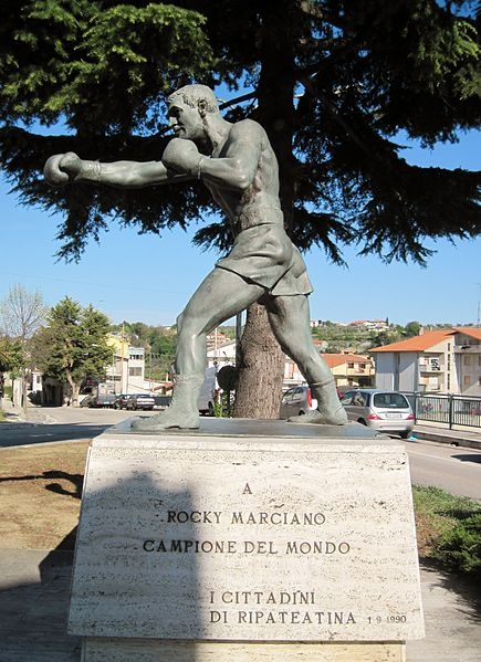 Rocky Marciano statue in Italy