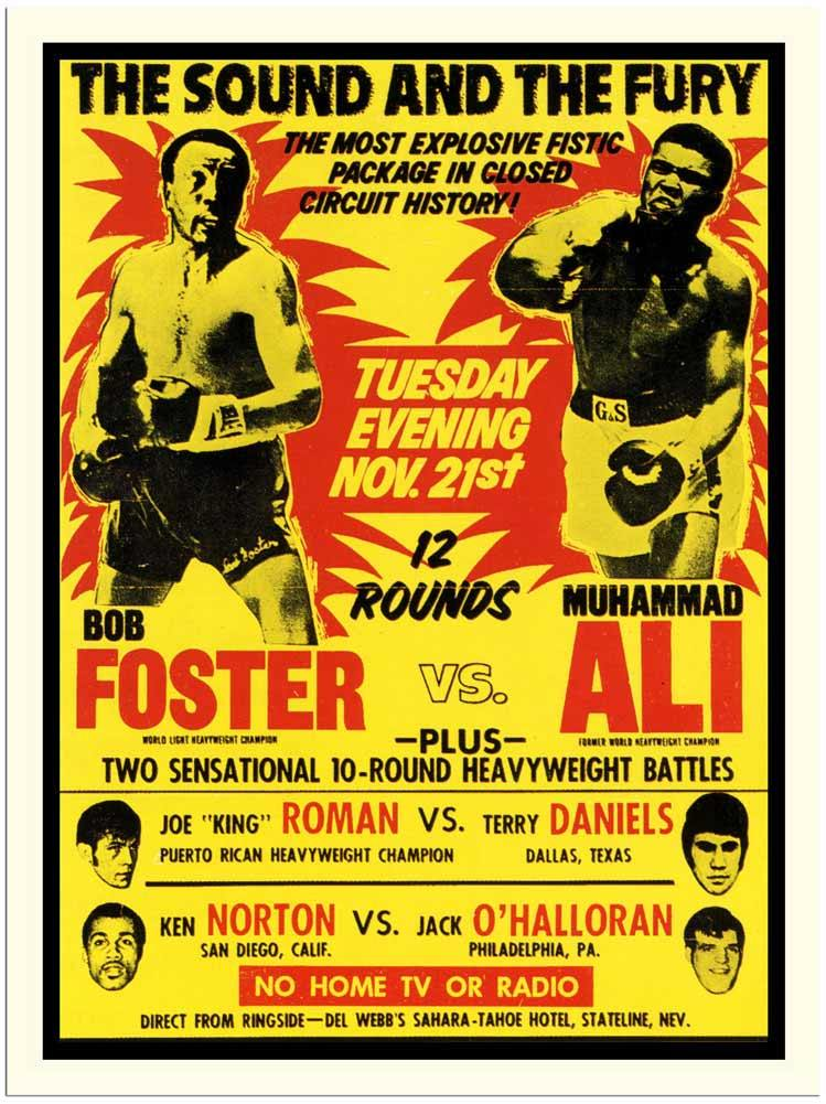 Old boxing poster template