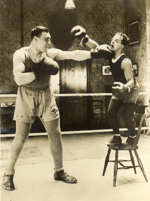 Heavyweight Champion Primo Carnera with Genaro