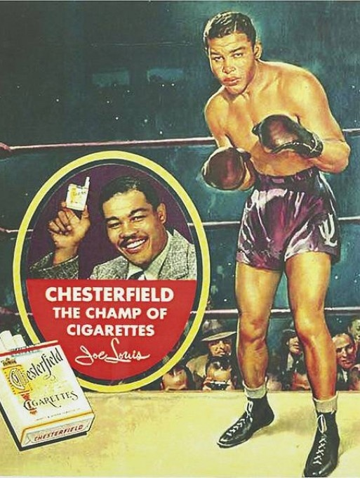 Joe Louis advertising Chesterfields