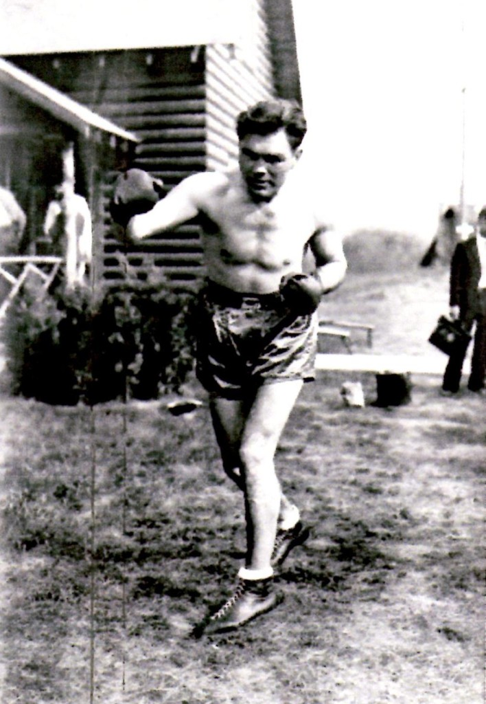 Max Scmeling training in Lake Swananoa, NJ for his upcoming bout with Max Baer