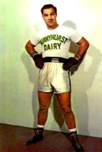 Heavyweight Champion Rocky Marciano appearing for Sunnyhurst Dairy