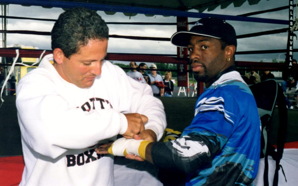 """Featherweight Champion Kevin """"Flushing Flash"""" Kelley in training at the Boxing Hall of Fame"""