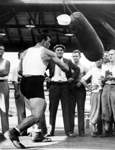 Primo Carnera training