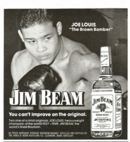 Joe Louis advertising Jim Beam