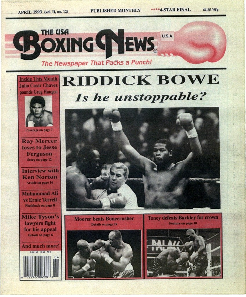 Boxing News April 1993 Cover