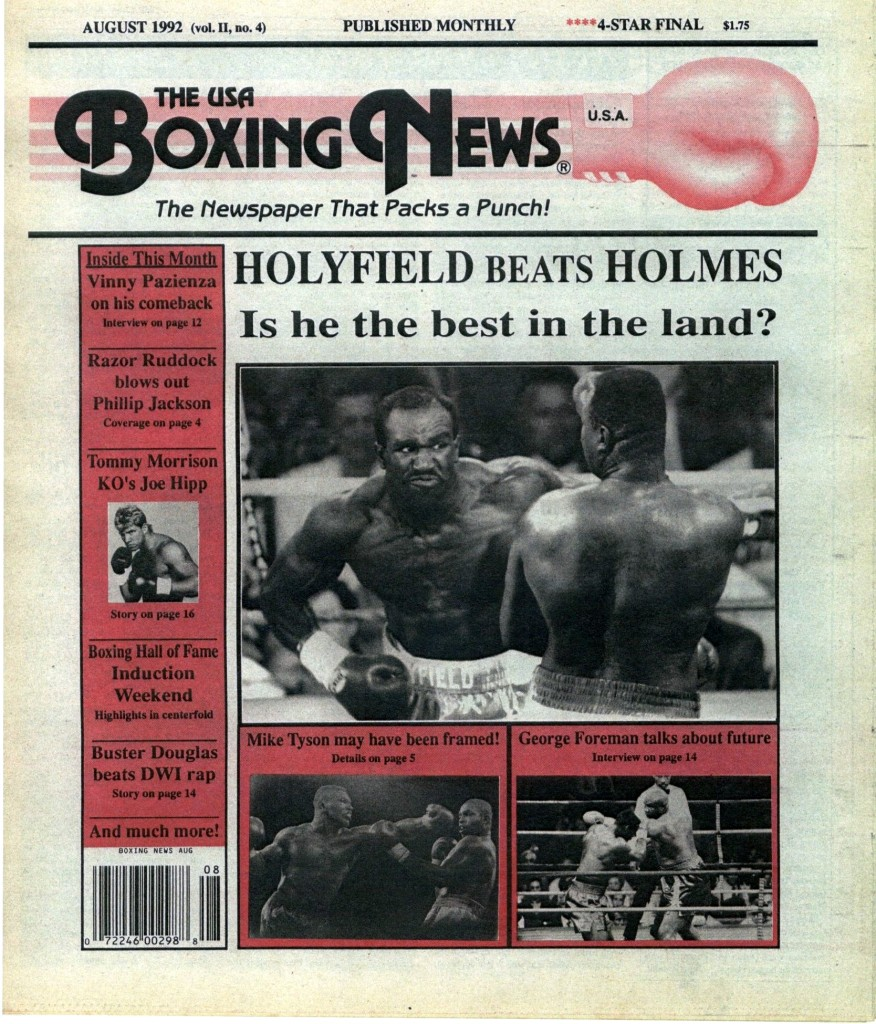 Boxing News August 1992 Cover