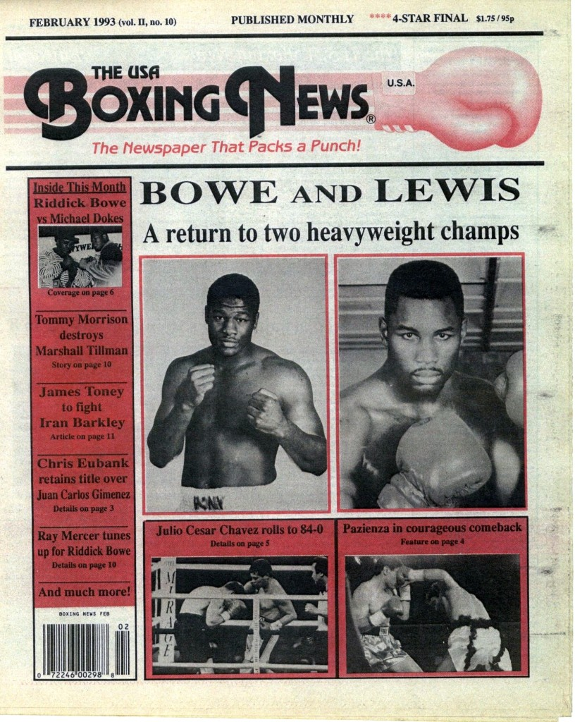 Boxing News February 1993 Cover (2)