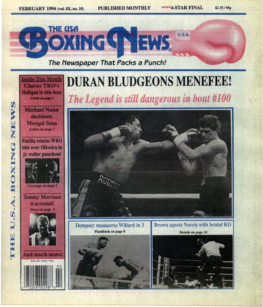 Boxing News February 1994 Cover (2)