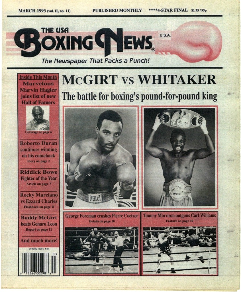 Boxing News March 1993 Cover