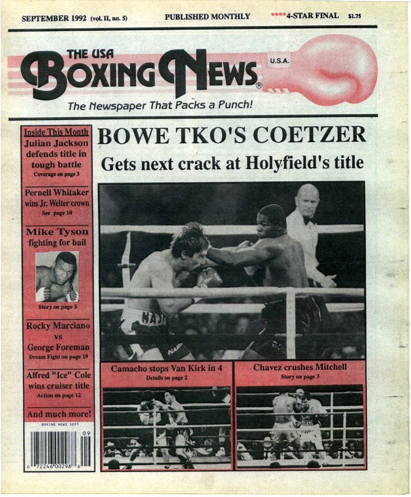 Boxing News September 1992 Cover