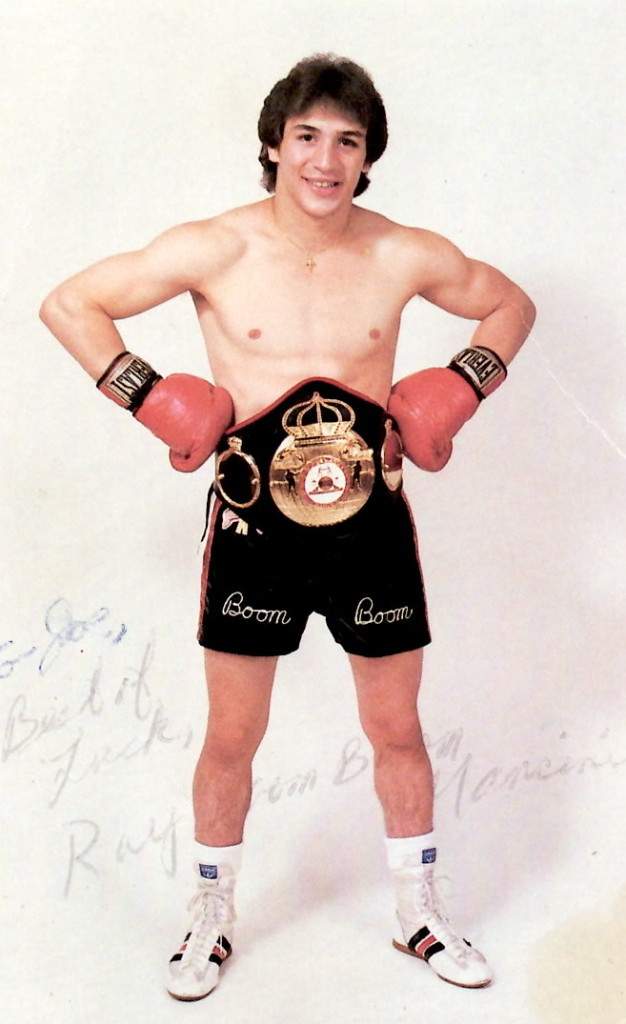 "WBA Lightweight Champion Ray ""Boom Boom"" Mancini in 1982"