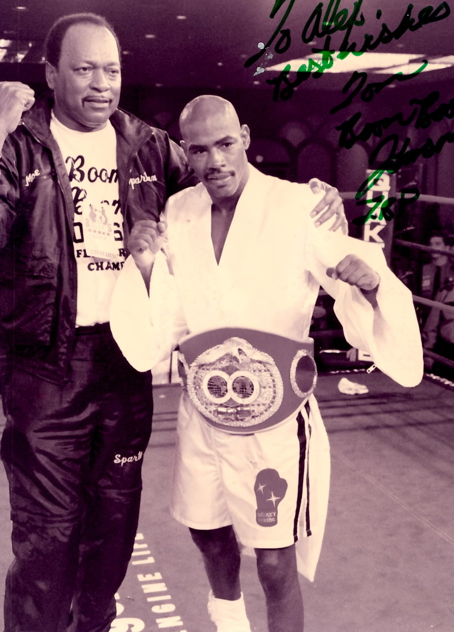 "IBF World Featherweight Champion Tom ""Boom Boom"" Johnson in 1994"