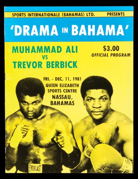 FIGHT PROGRAM ALI-BERBICK.