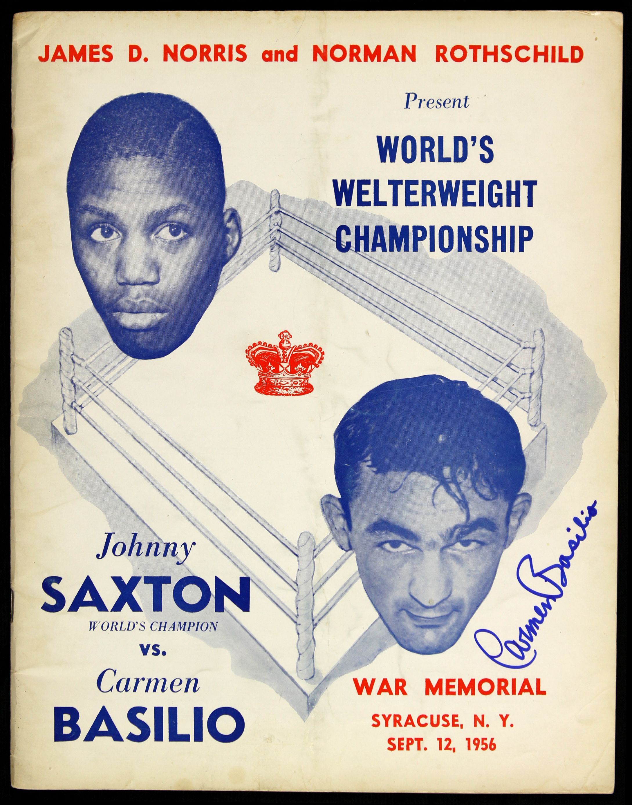 FIGHT PROGRAM BASILIO-SAXTON.