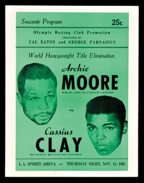 FIGHT PROGRAM CLAY-MOORE.