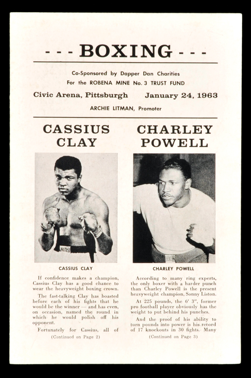 FIGHT PROGRAM CLAY-POWELL.