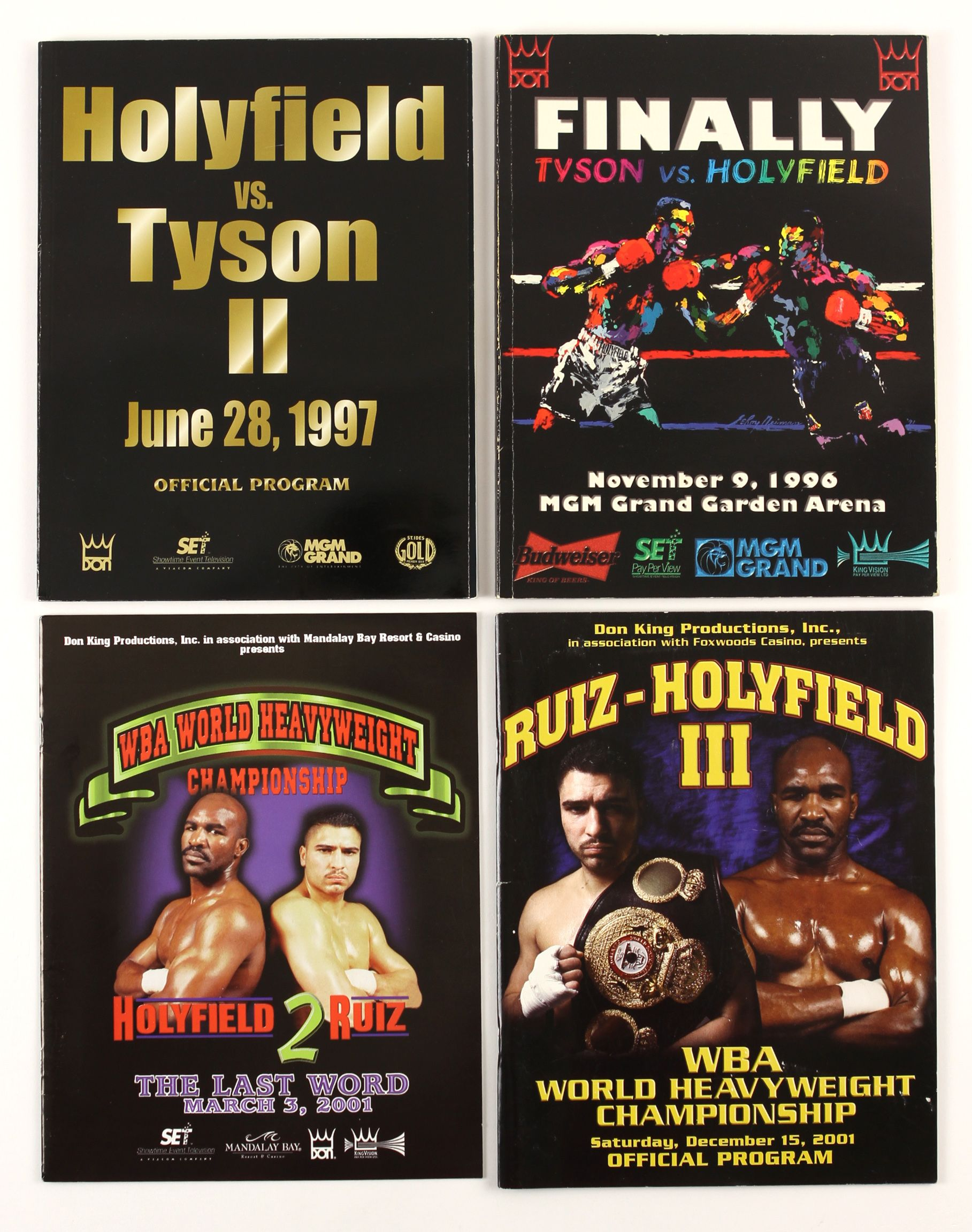 FIGHT PROGRAM EVANDER HOLYFIELD FIGHTS.