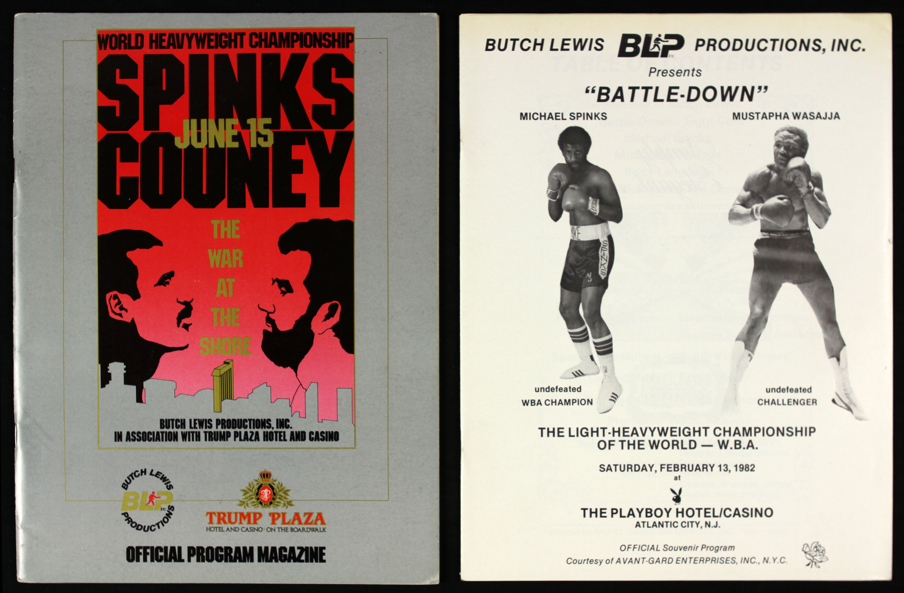 FIGHT PROGRAM MICHAEL SPINKS FIGHTS.