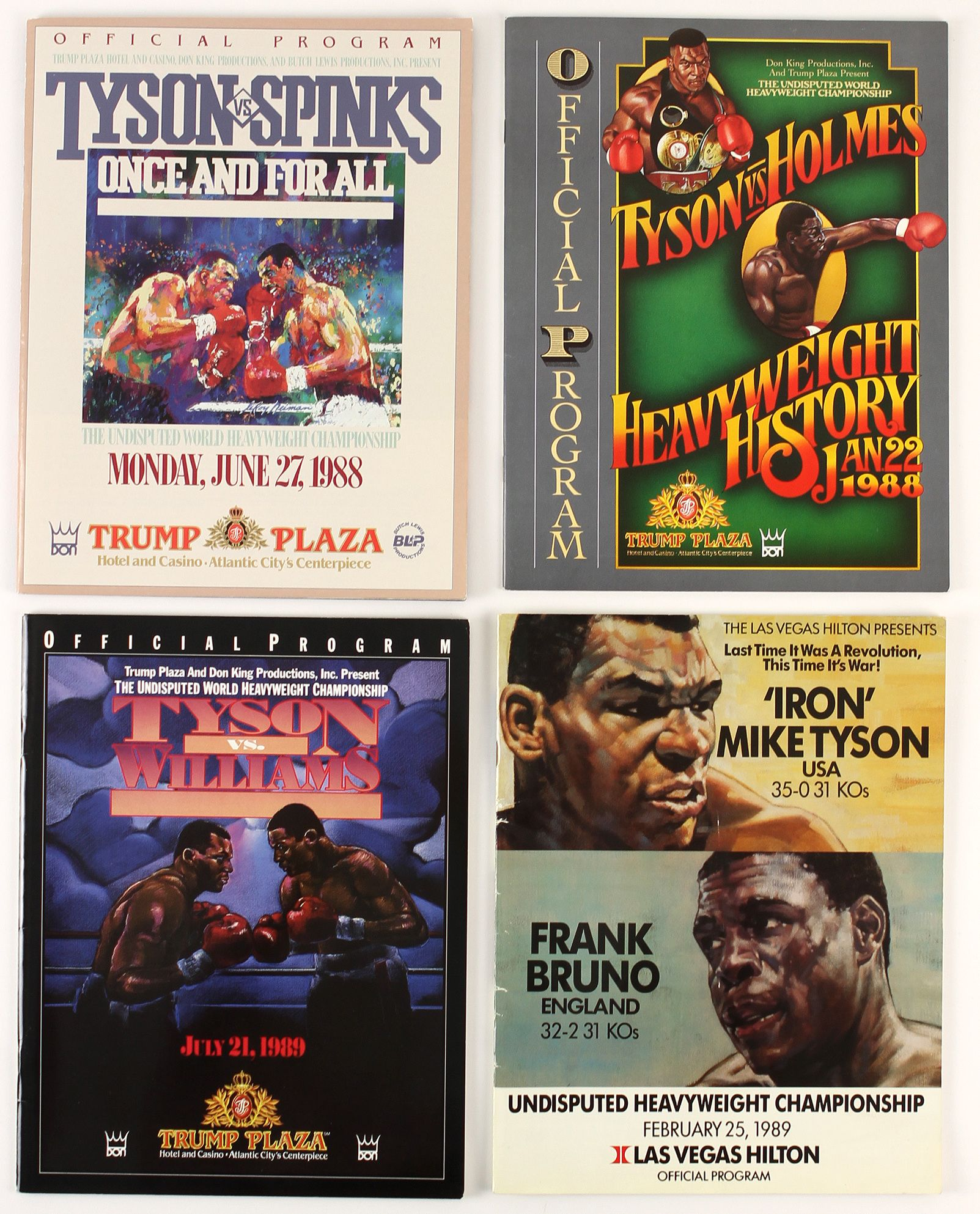FIGHT PROGRAM MIKE TYSON FIGHTS.