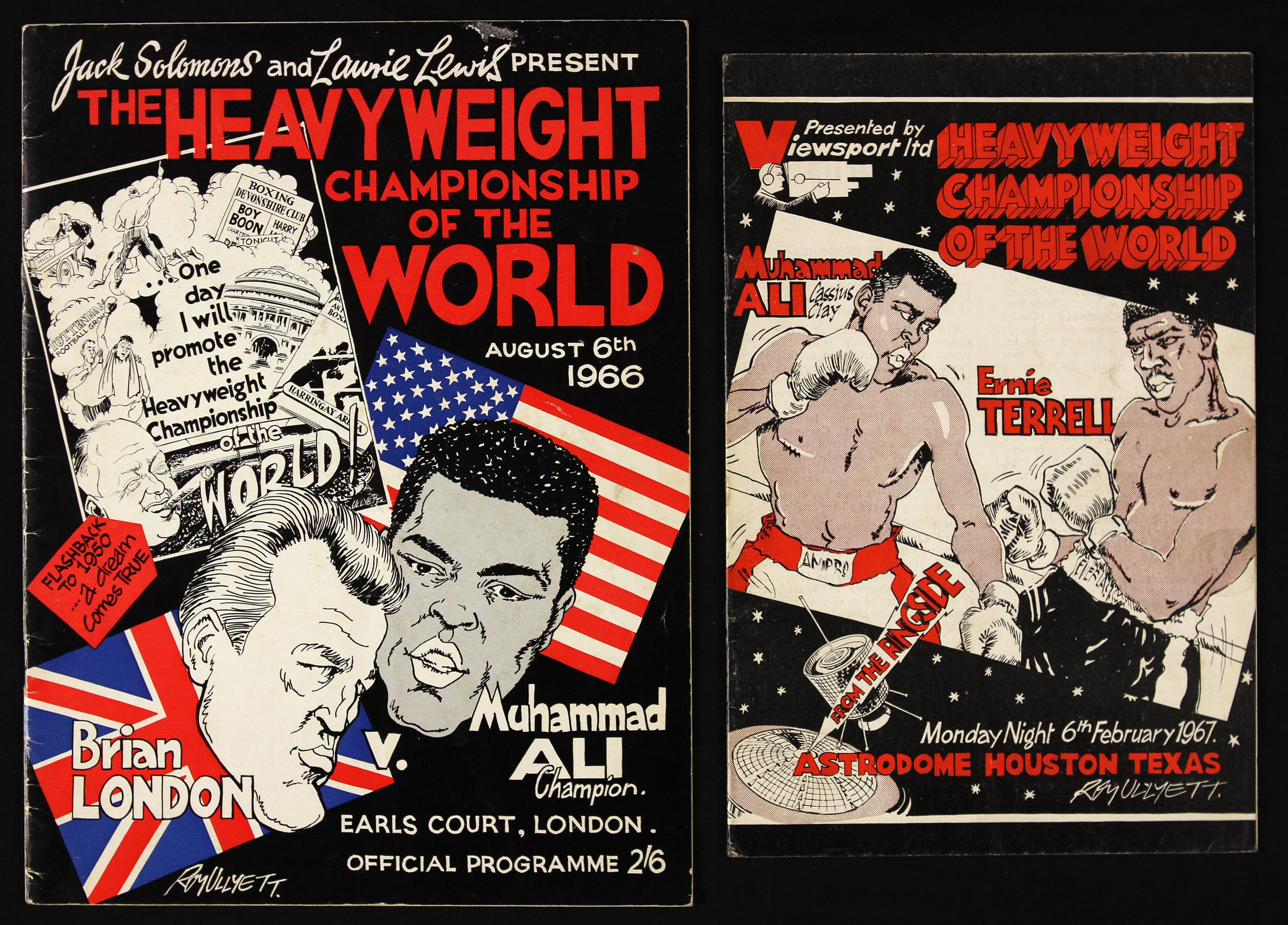 FIGHT PROGRAM MUHAMMAD ALI FIGHTS.