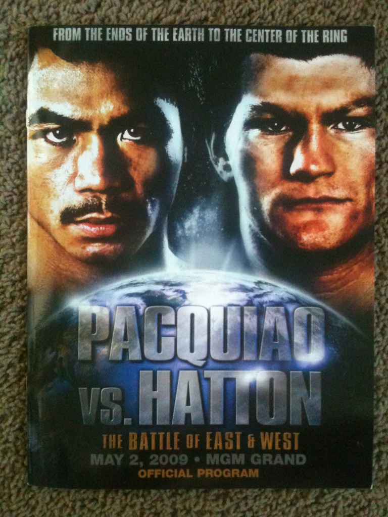FIGHT PROGRAM PACQUIAO-HATTON